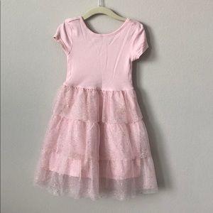 Gap Kids Pink Short Sleeve Tulle Dress